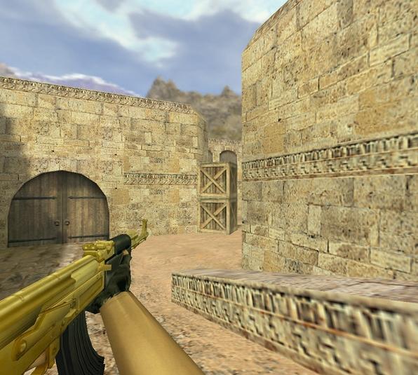 Модель «АК-47 Золотой» для CS 1.6