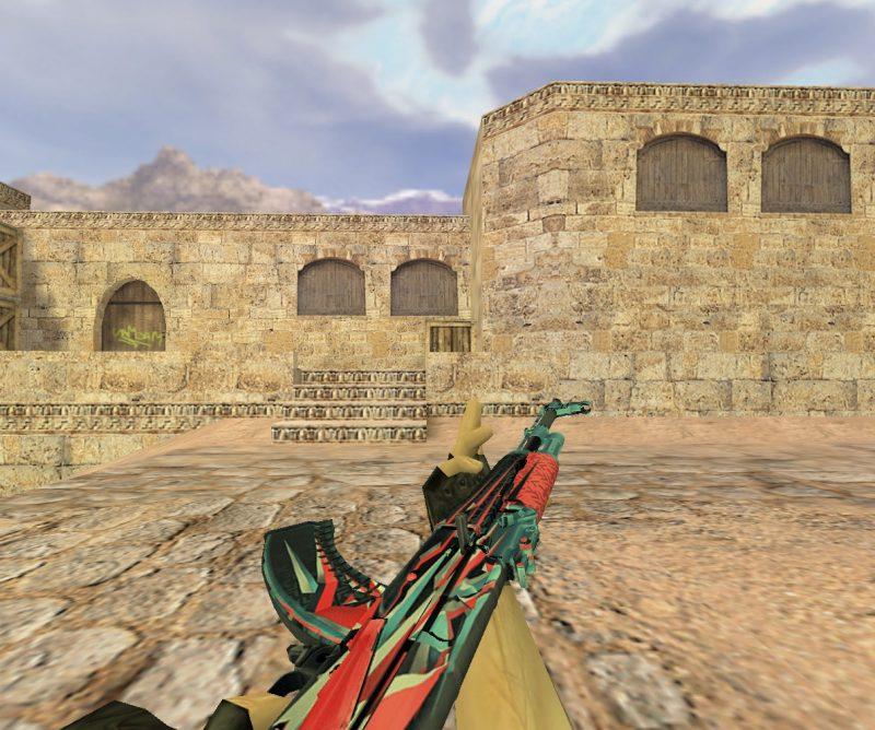 Модель «АК 47 Буйство красок» для Cs 1.6