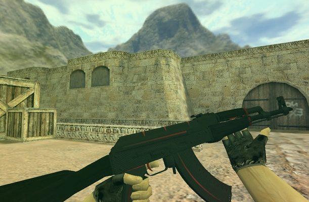 Модель «АК 47 Красная линия» для Cs 1.6