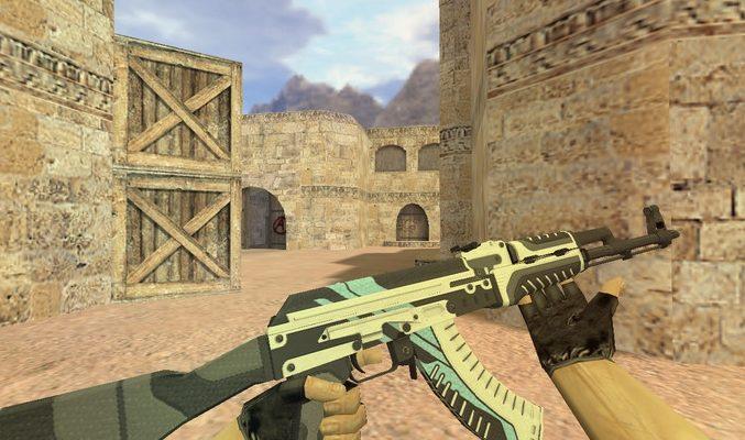 Модель «АК 47 Неоновая революция» для Cs 1.6