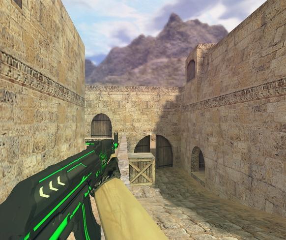 Модель «АК 47 Зеленая линия» для Cs 1.6